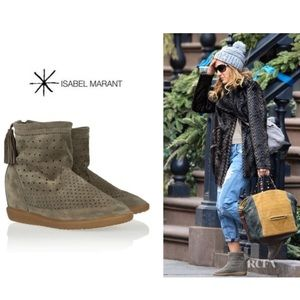 Isabel Marant Bealay perforated booties